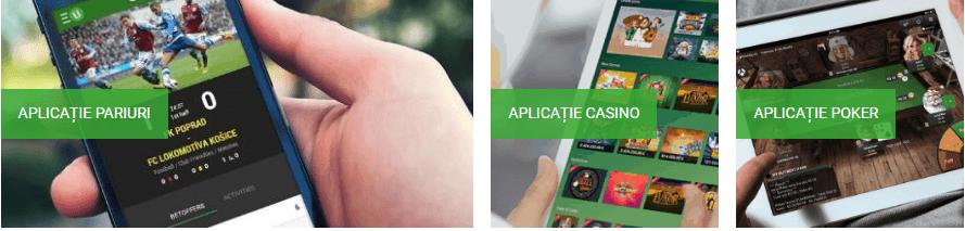 Aplicație mobil Unibet