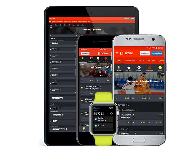 Aplicație mobilă pariuri sportive